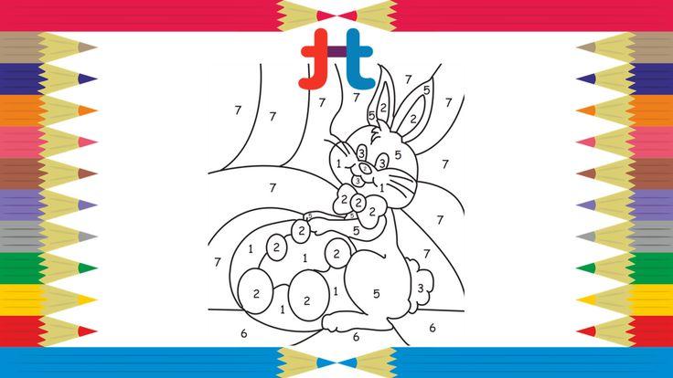 Color By Number Coloring Pages🐰🐇Easter Bunny Color by Numbers🖍️Coloreando   Colorear Por Numeros  #colorbynumber #colorbynumbers #coloringbynumbers #easterbunnycoloring #eastercoloringpage #easterbunny #coloring #coloreando #tucutube