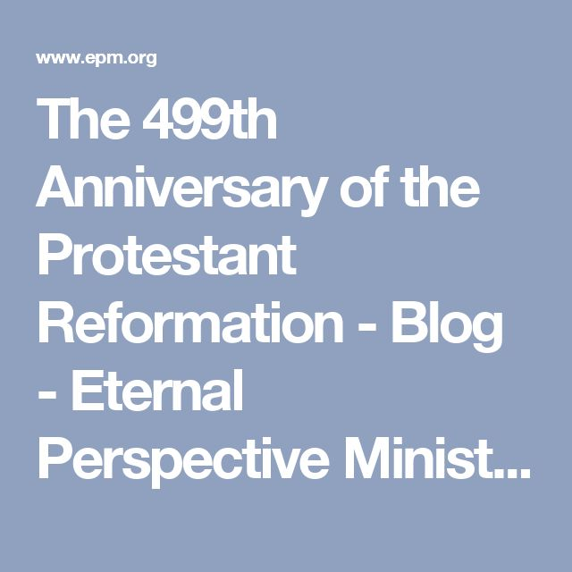 An introduction to the history of the protestant reformation