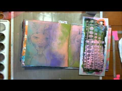 Art Geeks: Faded Backgrounds Art Journal Page - YouTube
