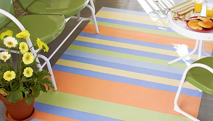 78 Best Images About Painted Rugs On Concrete On Pinterest