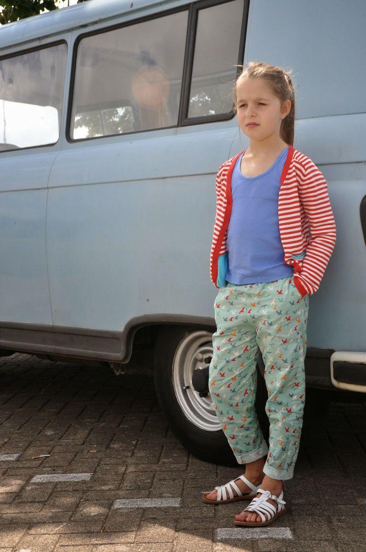 emma en mona: La maison victor, jumpsuit, maar toch niet Patroon La maison victor: jumpsuit broek met elastiek in plaats van bovendeel stof de Stoffenkamer elastiek Eulalie