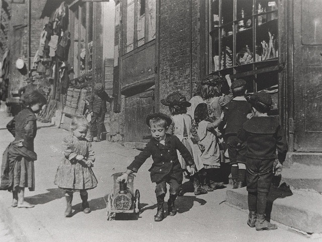 058366:Children playing Pilgrim Street Newcastle upon Tyne Unknown c.1890 by Newcastle Libraries, via Flickr