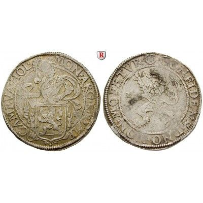 Niederlande, Kampen, Löwentaler o.J., ss+: Löwentaler o.J. Ritter hinter Löwenwappen, Löwe hält Stadtwappen / Steigender Löwe.… #coins