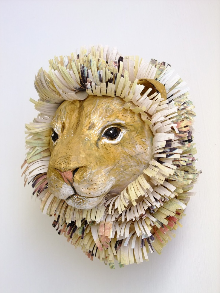 Emily Warren, papier mache animals
