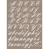 Les 25 meilleures id es de la cat gorie pochoirs alphabet sur pinterest pochoirs police - Pochoir lettre a imprimer gratuit ...