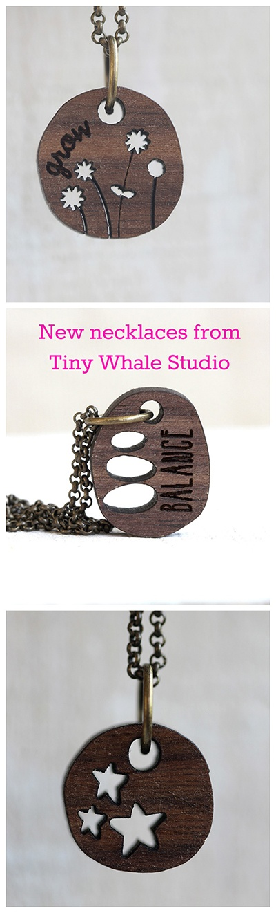 New necklaces from Tiny Whale Studio