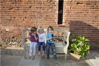 Enclosed courtyard garden is a perfect space for small children