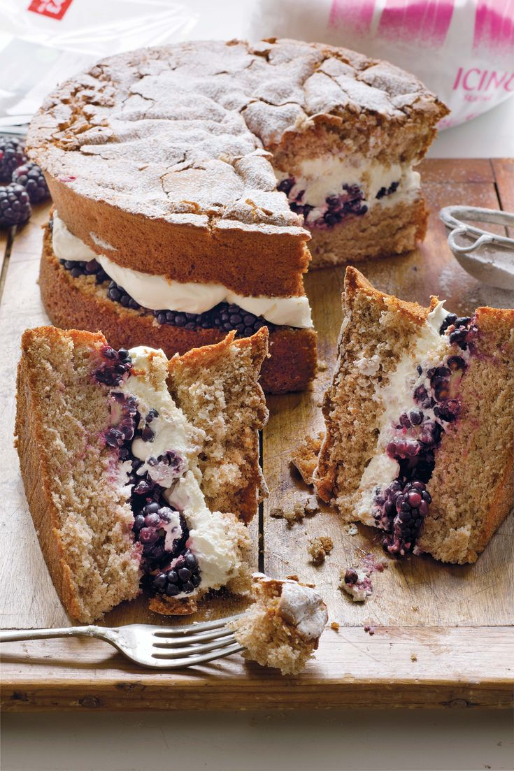 Blackberry Cinnamon Cake --A cake that freezes well unfilled, so you can wait until the berries look just right.