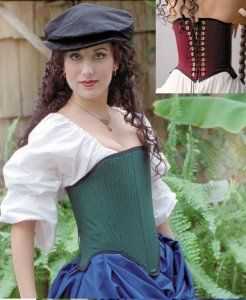 Elizabethan Corset: Renaissance Costumes, Medieval Clothing, Madrigal Costumes by The Tudor Shoppe