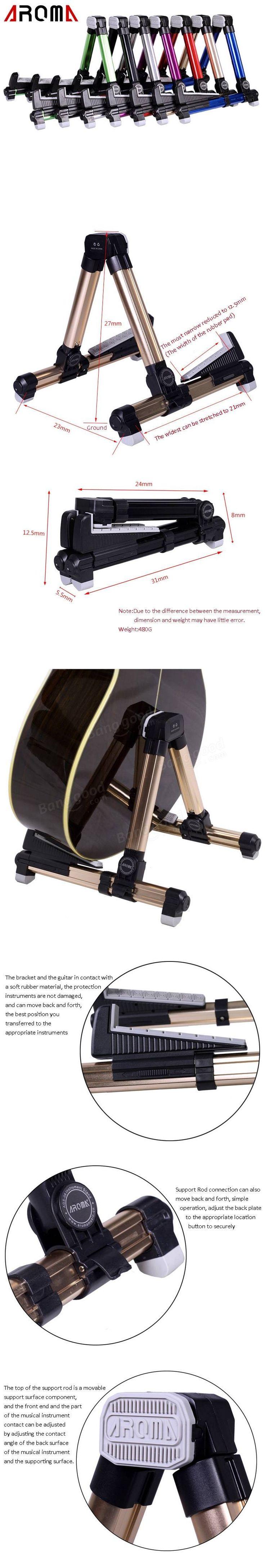 Aroma AGS-08 Foldable Metal Stand For Guitar Sale - Banggood.com