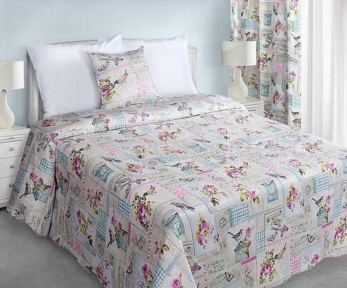 Dekorativní bílý oboustranný vintage přehoz na manželskou postel