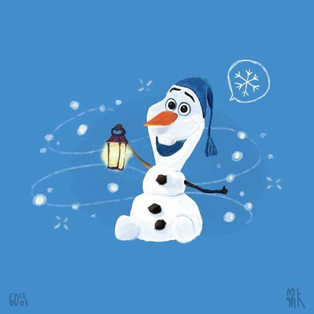 Olaf speed paint ☃️☃️☃️