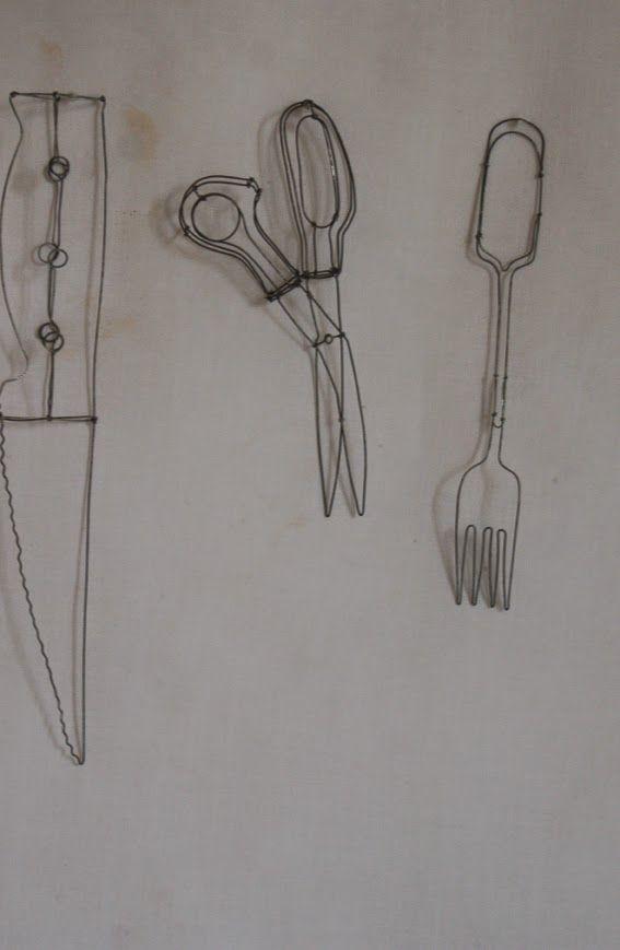 fil de fer par catherine gontier sculpture pinterest sculpture cuisine and catherine o 39 hara