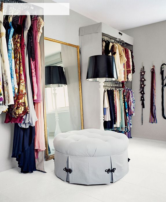 Turn A Spare Room Into A Glam Dressing Room