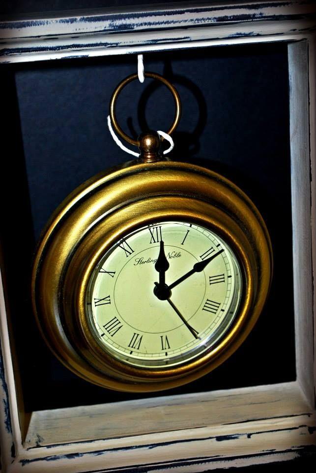 Free Hanging Framed Clock