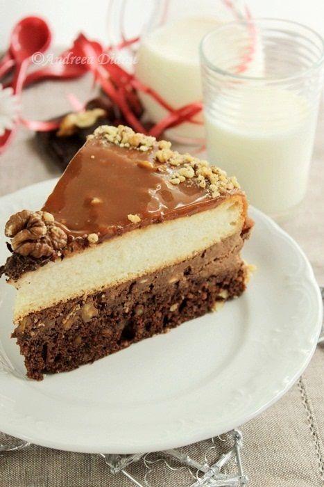 Pentru ca e weekend va incant cu un dulce mai complx, dar foarte bun!!! Sa aveti un weekend minunat 🙂 Ingrediente: Blat negru: 3 oua 150 g zahar 60 g unt 50 ml lapte 120 g faina 15 g cacao 100 g nuca tocata 10 g praf de copt Vanilie Blat alb: 200 g...