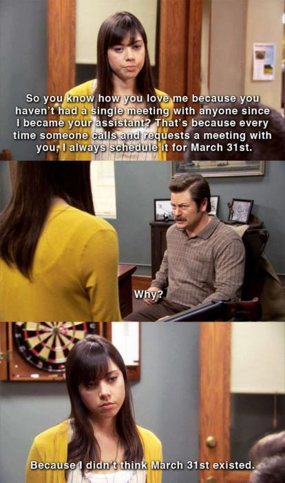 Parks and Rec April everyone..#loveher