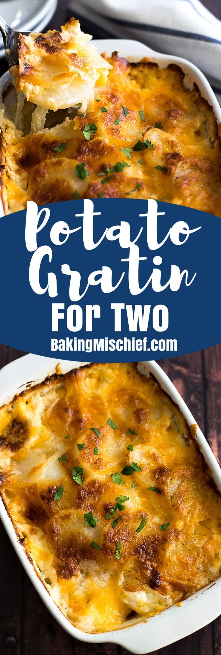 Creamy cheesy Potato Gratin for Two is simple to make and a perfect delicious meal for two.