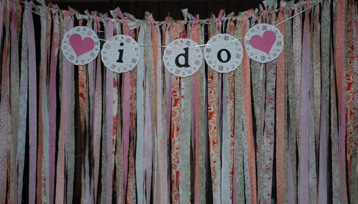 Fabric Backdrop Streamer Backdrop by partypaperscissors on Etsy