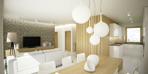 Family house interior design in Austria by cubica interior design studio, via Behance