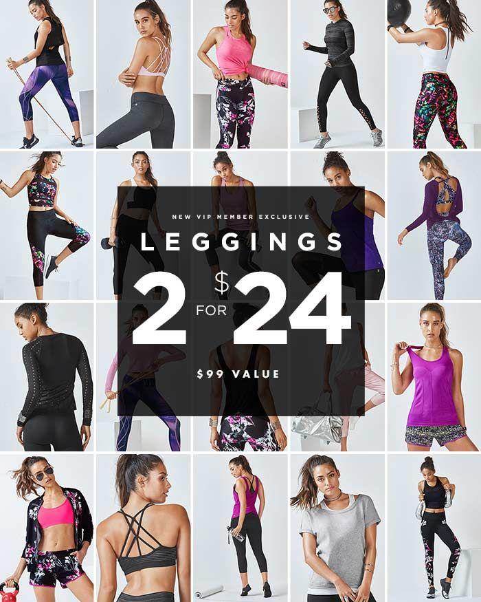 Fabletics leggings 2 for 24