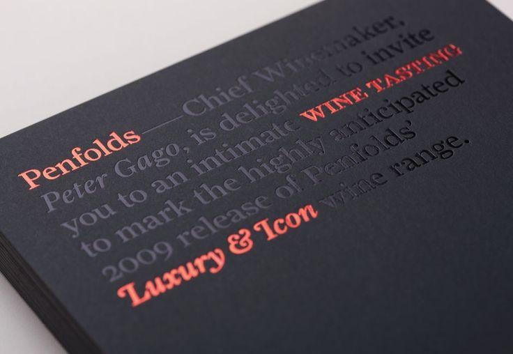 Penfolds Wines Invitation Detail