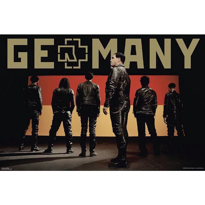 "#Poster verticale ""Germany"" dei Rammstein. Dimensioni: 61 x 91,5 cm."