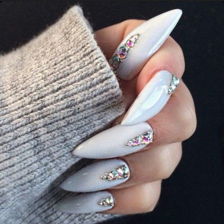 White Nails And Design Image On We Heart It