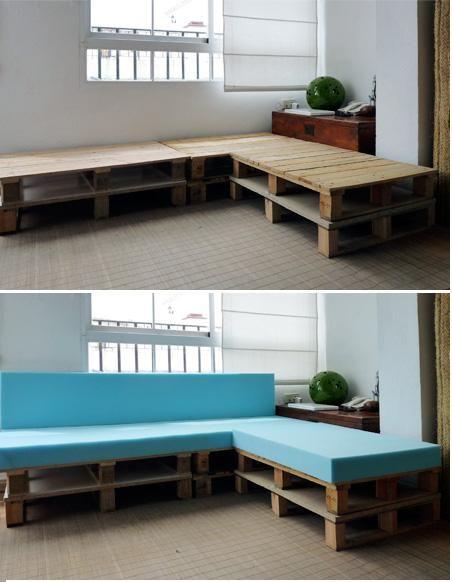 46 best 101 diy pallet furniture images on pinterest - Como tapizar un sillon ...
