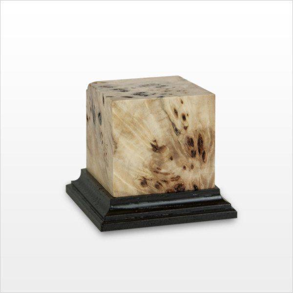 Aphrodite - Poplar burl/Wengè wood, plinth profile Beta