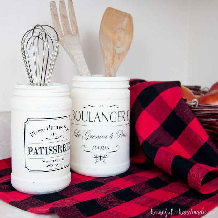 Turn old jars into something new in this month's Silhouette Creator's Challenge. These Farmhouse Kitchen Canister DIYs will bring charm to your kitchen.