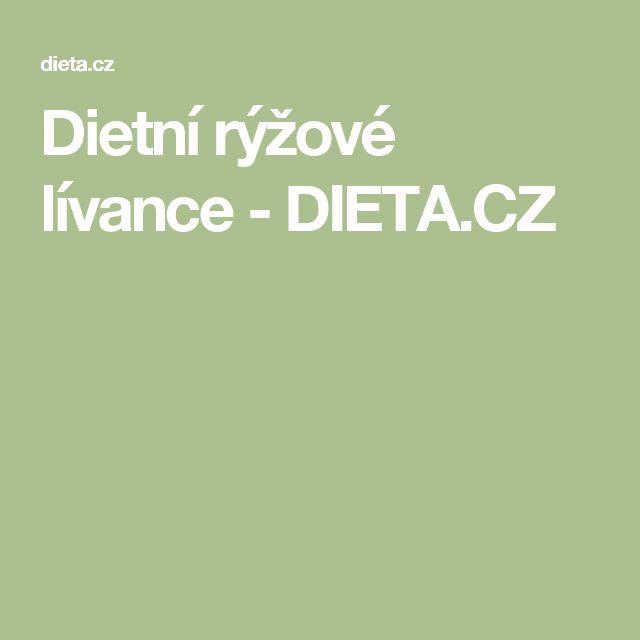 Dietní rýžové lívance - DIETA.CZ