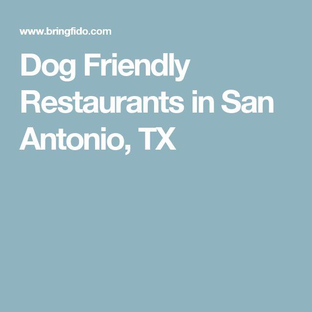 Dog Friendly Restaurants In San Antonio Tx Pet Care Pinterest And City