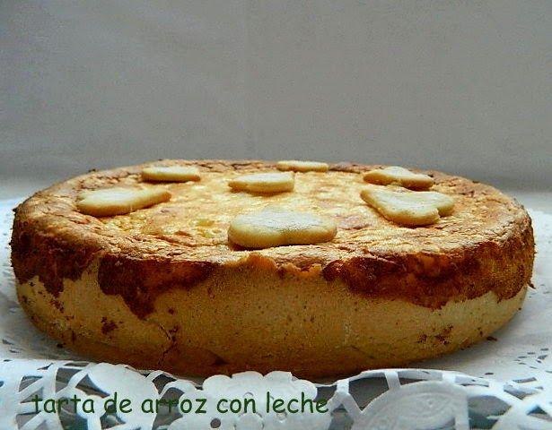 las recetas de mi abuela: TARTA DE ARROZ CON LECHE