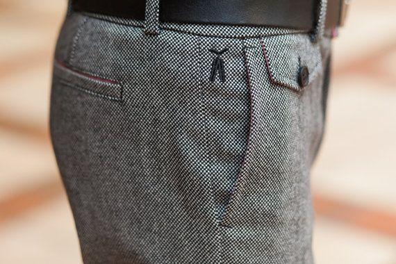 Chesslover pants for men / wool trousers for man by MaplePropeller
