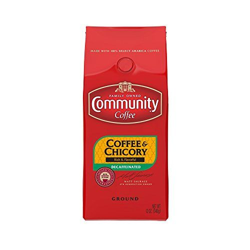 Community Coffee Ground Coffee and Chicory Decaf, 12 Ounce