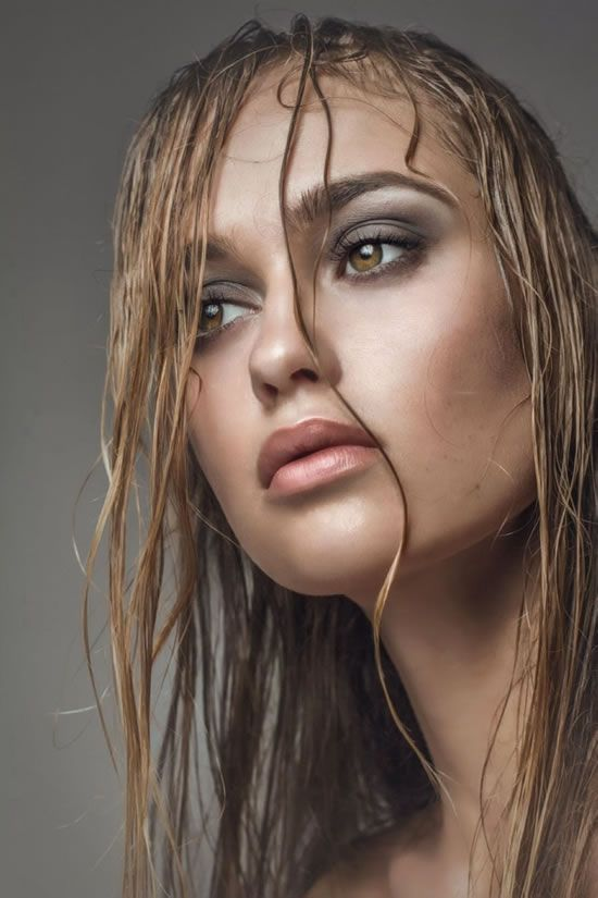 Stunning makeup look! Grey smokey eyes, contouring and nude lips! Makeup artist kelowna, Kelowna mobile beauty studio, Pommette.