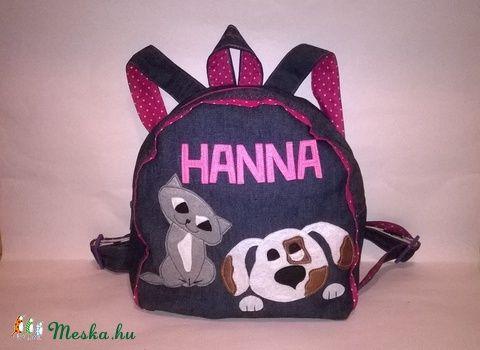 Hátizsák kutyus-cicus névvel pink Hanna (Kimita) - Meska.hu