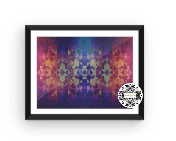 Geometric Art Print, Geometric Art, Abstract Art, Wall Art, Décor, Wall Décor, Colorful, Patterns, Modern Art, Home Décor
