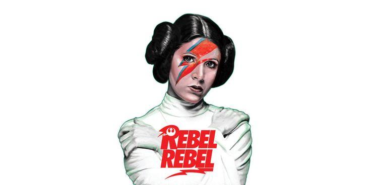 Prinsessan Leia är Rebel Rebel.   Tjock / Sinnet