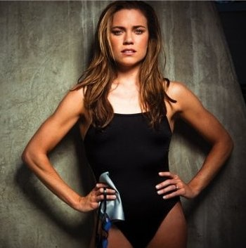 Swimmer Natalie Coughlin... Look at those arms