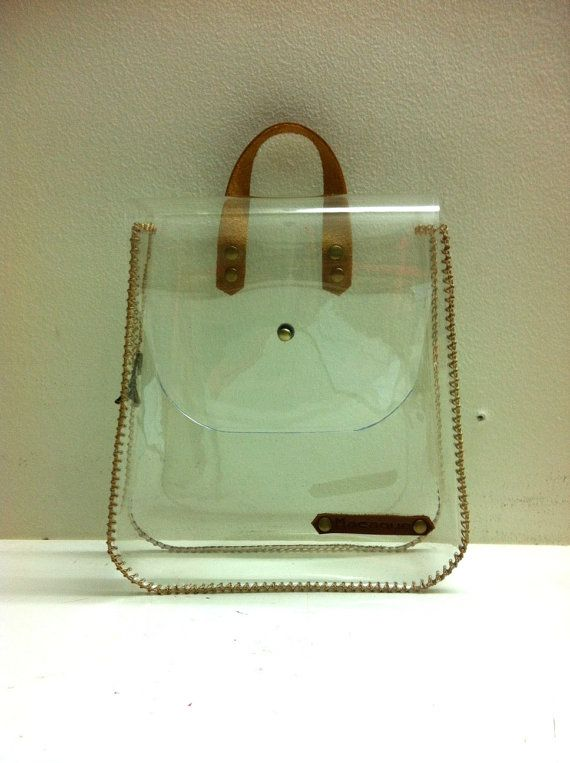 Cosmetic Bag Transparent Handbag See through bag by SkinnyMacaque, $38.00