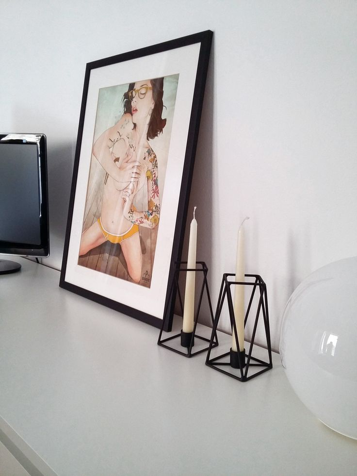 PRUT candle holders, white interior