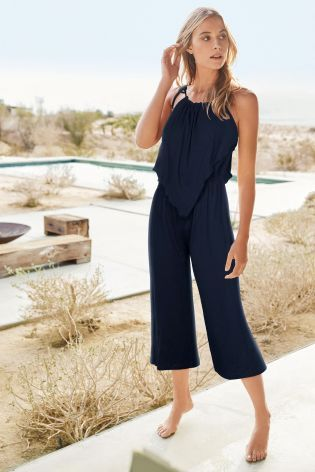 Buy Navy Culotte Jumpsuit from the Next UK online shop