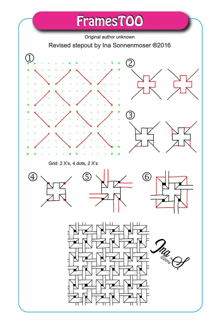 Egy kis jazz 156 - Small Equally Spaced Dots Will Give You Guidance When Drawing Patterns Because They Are Part Of The Pattern And Will Easily Disappear Into The Design