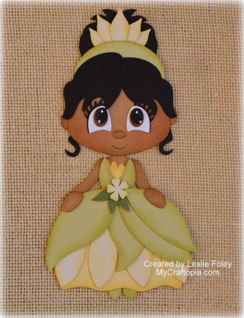 Disney Princess Tiana Premade Scrapbooking Embellishment Paper Piecing