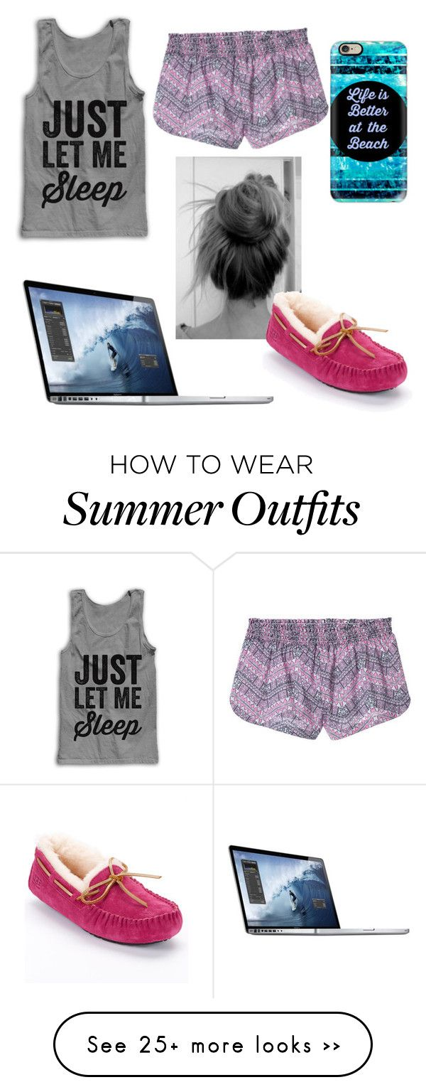 """a little night outfit"" by audreyvail on Polyvore featuring Victoria's Secret, Casetify and UGG Australia"