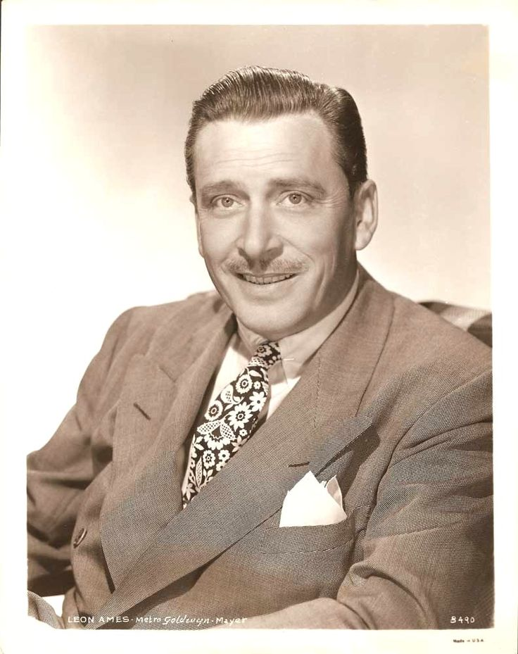 Leon Ames (January 20, 1902 – October 12, 1993) was an American film and television actor. He is best remembered for playing father figures in such films as Meet Me in St. Louis (1944) with Judy Garland as one of daughters, Little Women (1949), On Moonlight Bay (1951) and By the Light of the Silvery Moon (1953). The fathers whom Ames portrayed were often somewhat stuffy and exasperated by the younger generation, but ultimately kind and understanding.