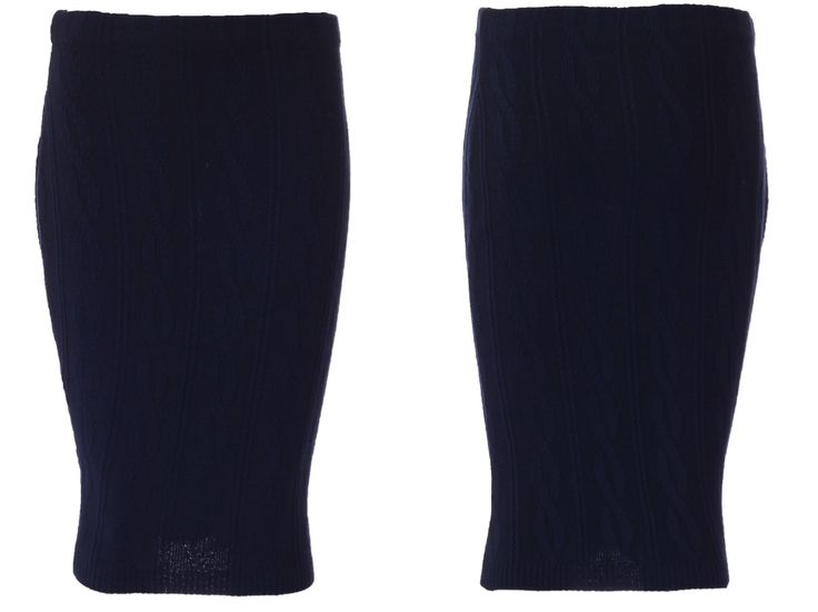 Blue Cable Knit Skirt R180