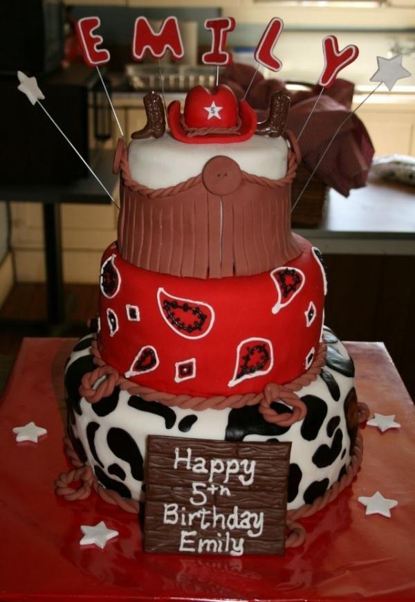 Western Birthday Cake